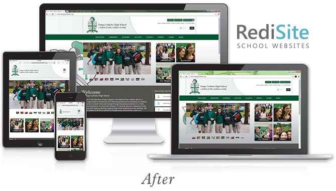 RediSite Example: Tampa Catholic High School Website AFTER