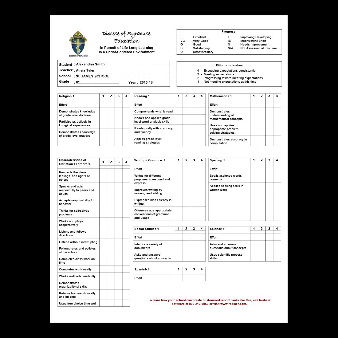 Report Card Software - Grade Management   Rediker Software