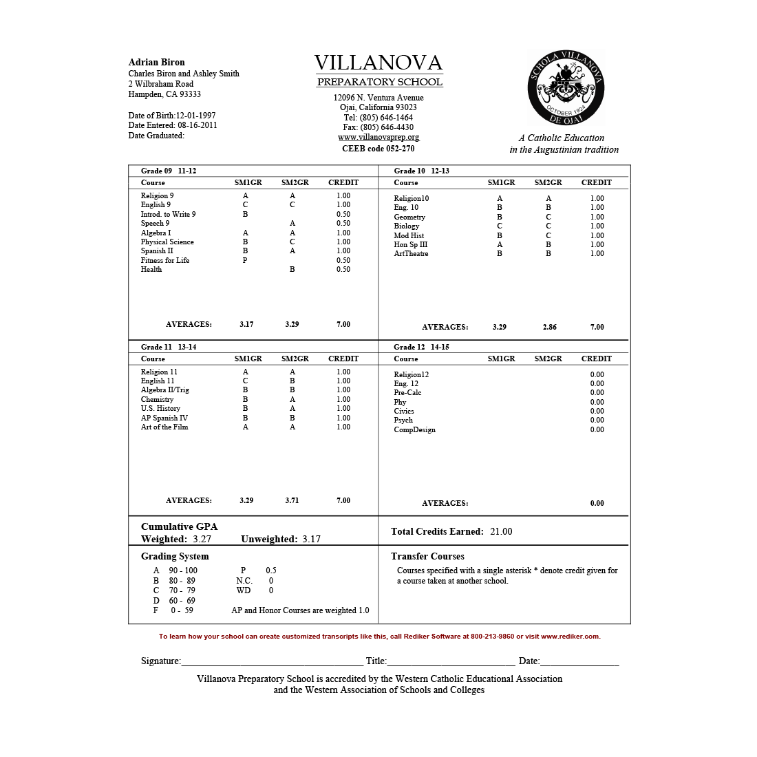 report card software