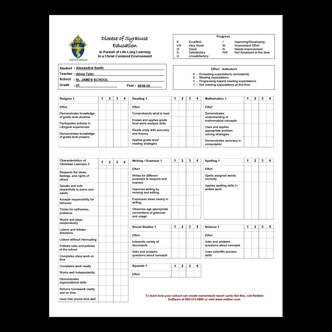 Report Card Software Grade Management Rediker Software