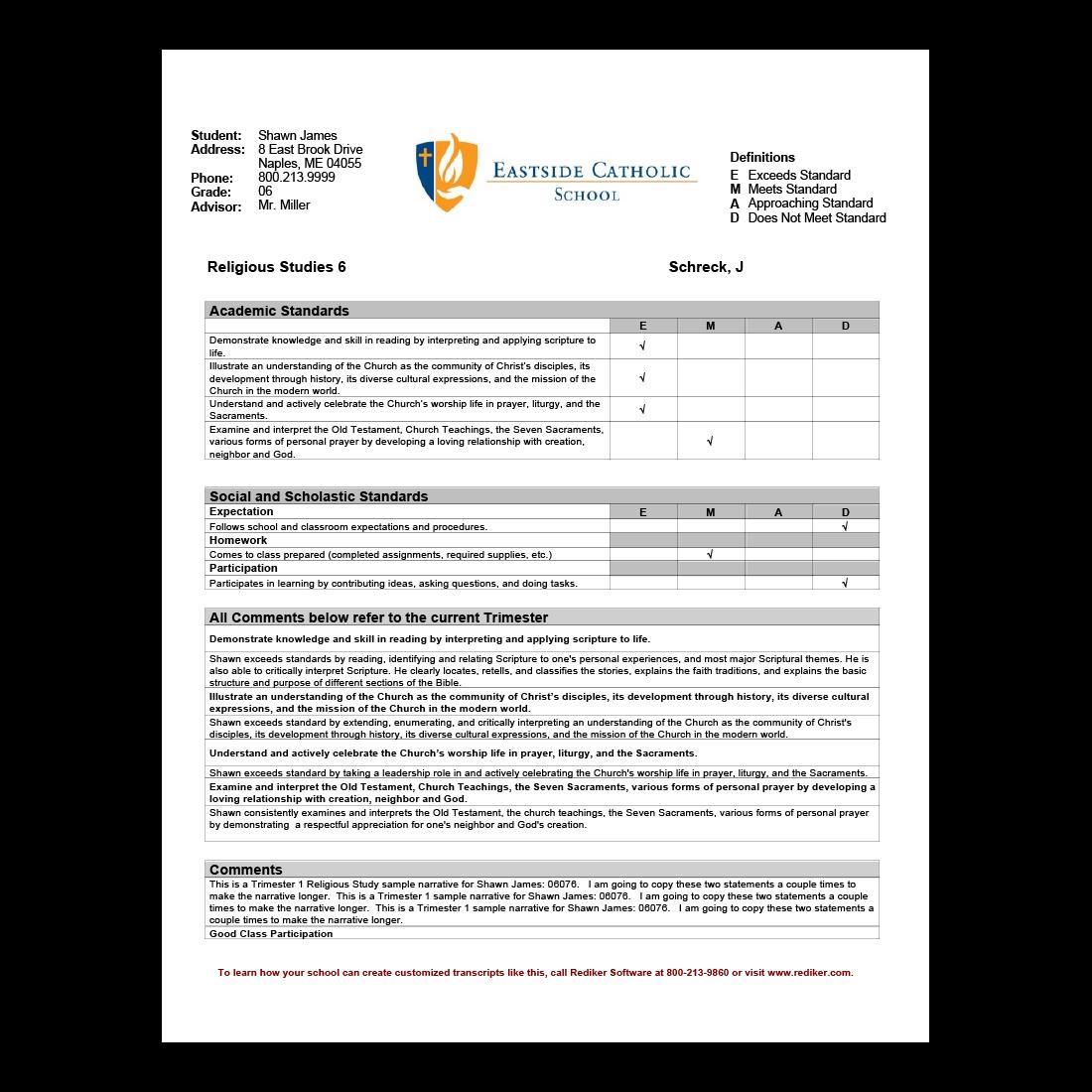 Report Card Software - Grade Management | Rediker Software