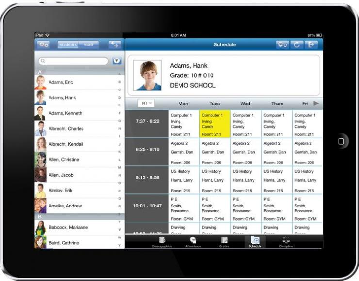 Scheduling on iPad