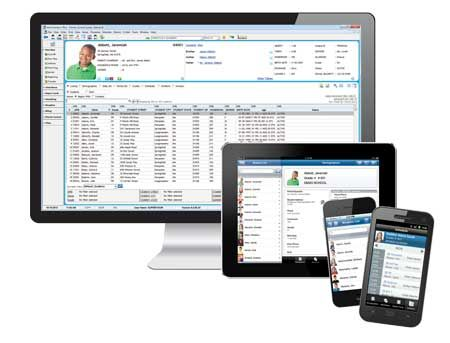 AdminPlus Screens on Mobile Devices