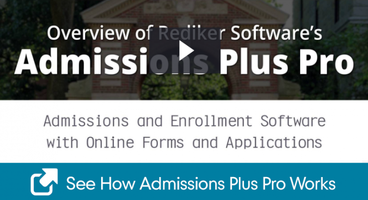 Watch an overview of Admissions Plus Pro