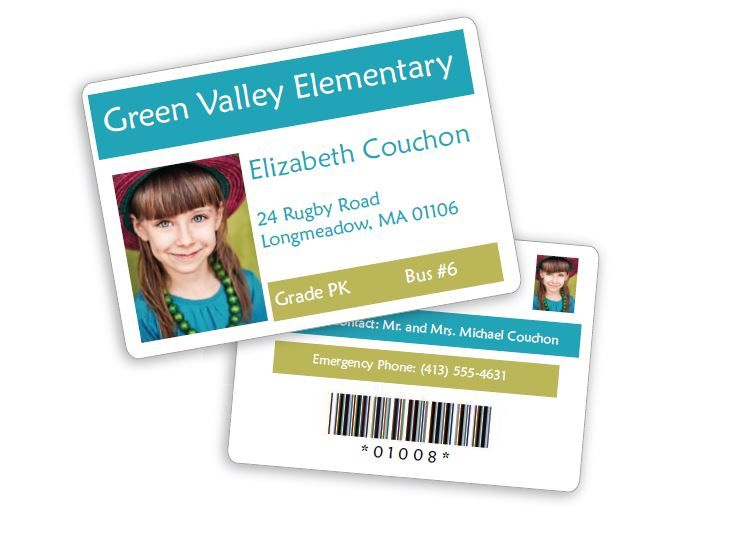 ID Card Front and Back Sample